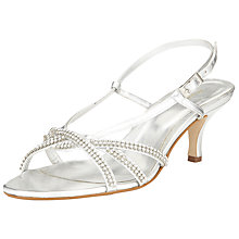 Buy John Lewis Goring Embellished Kitten Occasion Heels, Silver Online at johnlewis.com
