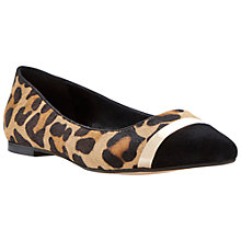 Buy Dune Metal Trim Pointed Toe Dressy Flats, Leopard Online at johnlewis.com