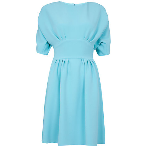 Buy Closet Pleat Gathered Tie Back Dress, Aqua Online at johnlewis.com