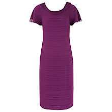 Buy Jacques Vert Bardot Tiered Dress, Purple Online at johnlewis.com