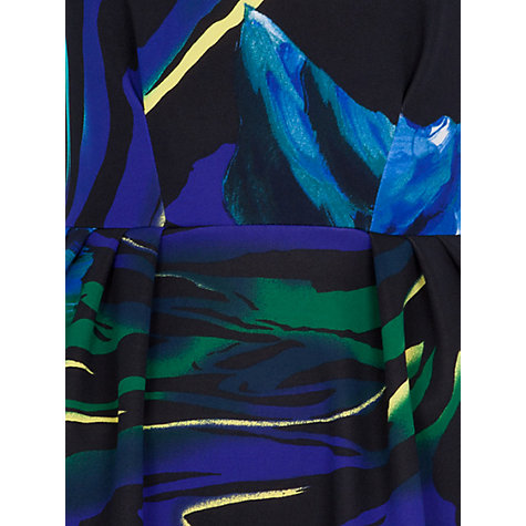 Buy Closet Bold Print V Back Scuba Dress, Blue Online at johnlewis.com