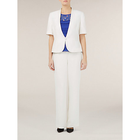 Buy Jacques Vert Short Sleeve Jacket, Cream Online at johnlewis.com