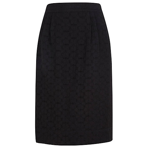 Buy Kaliko Daisy Jacquard Skirt, Black Online at johnlewis.com