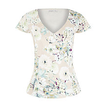 Buy Jacques Vert Botanical Print Blouse, Gold Online at johnlewis.com