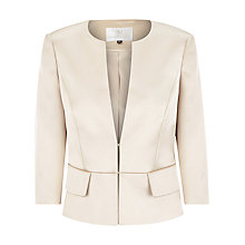 Buy Jacques Vert Satin Jacket, Gold Online at johnlewis.com