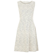 Buy Kaliko Sculptured Stripe Dress, Ivory Online at johnlewis.com