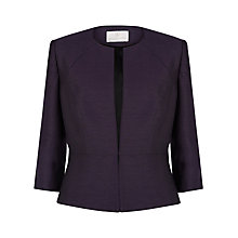 Buy Jacques Vert Round Neck Jacket, Dark Purple Online at johnlewis.com