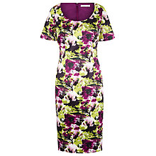 Buy Jacques Vert Bright Garden Floral Shift Dress, Purple/Multi Online at johnlewis.com