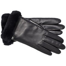 Buy UGG Smart Leather Gloves, Black Online at johnlewis.com