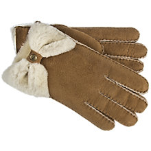 Buy UGG Bow Shorty Gloves, Chestnut Online at johnlewis.com
