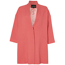 Buy Jaeger Drop Sleeve Coat, Pink Online at johnlewis.com