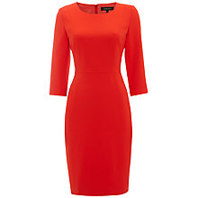 Buy Jaeger Scoop Neck Dress, Red Online at johnlewis.com