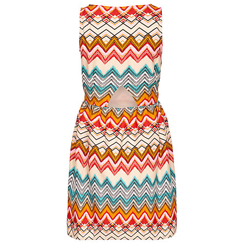 Buy Sugarhill Boutique Zig Zag Dress, Cream / Multi Online at johnlewis.com