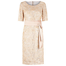 Buy Jacques Vert Ribbon Lace Dress, Gold Online at johnlewis.com