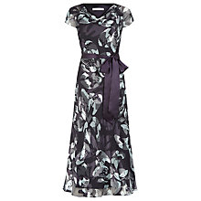 Buy Jacques Vert Floral Burnout Dress, Multi Purple Online at johnlewis.com