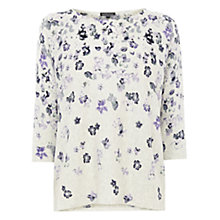 Buy Warehouse Trailing Floral Jumper, Lilac Online at johnlewis.com