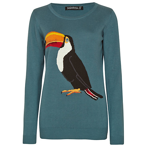 Buy Sugarhill Boutique Toucan Jumper, Teal Online at johnlewis.com