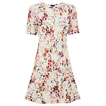Buy Warehouse Textured Floral Flippy Dress, Multi Online at johnlewis.com