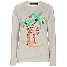 Buy Sugarhill Boutique Miami Sweatshirt, Grey Marl Online at johnlewis.com