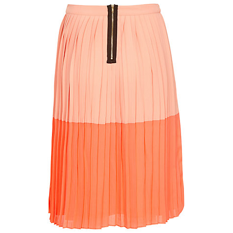 Buy Sugarhill Boutique Pretty Pleat Skirt, Peach/Coral Online at johnlewis.com