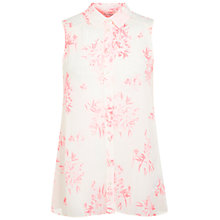Buy Miss Selfridge Floral Shirt, Fluorescent Pink Online at johnlewis.com