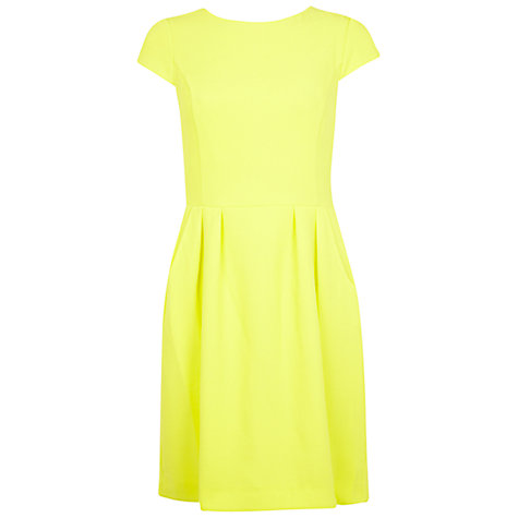 Buy Miss Selfridge Crepe Tulip Dress, Yellow Online at johnlewis.com