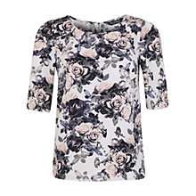 Buy Miss Selfridge Floral Crepe Top, Assorted Online at johnlewis.com