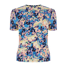 Buy Warehouse Abstract Floral Top, Multi Online at johnlewis.com