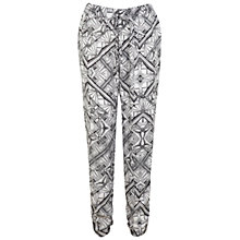 Buy Miss Selfridge Geo Print Trousers, Black Online at johnlewis.com