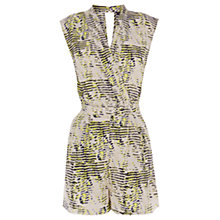 Buy Warehouse Broken Texture Playsuit, Multi Online at johnlewis.com