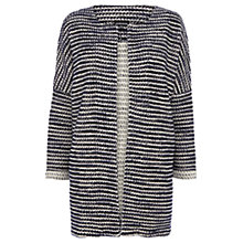 Buy Warehouse Boucle Longline Jacket, Blue Online at johnlewis.com