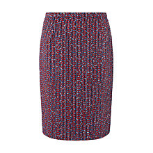 Buy Jigsaw Tribal Linton Tweed Pencil Skirt, Blue Online at johnlewis.com