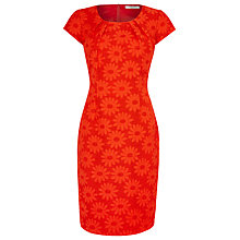 Buy Precis Petite Floral Jacquard Dress, Venetian Red Online at johnlewis.com