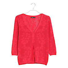 Buy Mango Floral Jacquard Cardigan Online at johnlewis.com