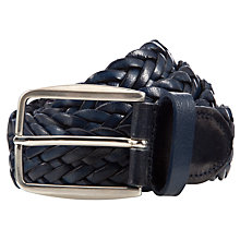 Buy John Lewis Made in Italy Plaited Leather Belt Online at johnlewis.com