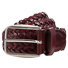 Buy John Lewis Italian Leather Plait Belt Mk II Online at johnlewis.com