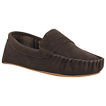 Buy John Lewis Moccasin Check Lined Slippers Online at johnlewis.com