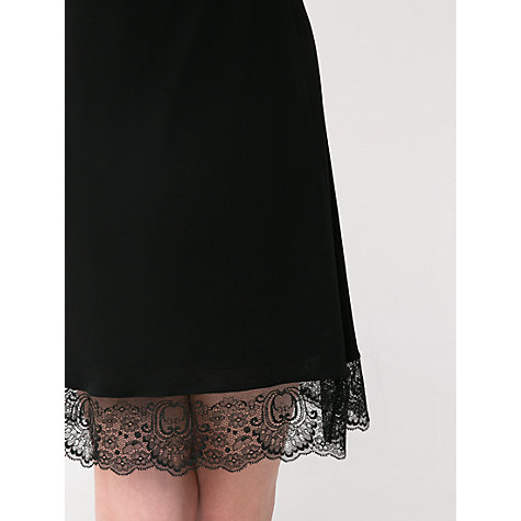 Buy Mango Lace Detail Dress, Black Online at johnlewis.com