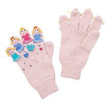 Buy John Lewis Girl Fairy Applique Gloves, Pink Online at johnlewis.com