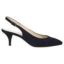 Buy Hobbs Invitation Lillian Leather Slingback Kitten Heels Online at johnlewis.com
