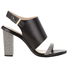 Buy Whistles Gina Cuff Leather Sandals, Black Online at johnlewis.com