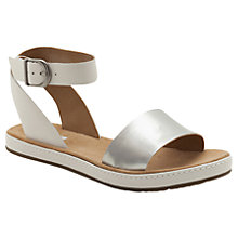 Buy Clarks Romantic Moon Leather Flat Sandals Online at johnlewis.com