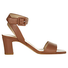 Buy Hobbs Coco Leather Block Heeled Sandals Online at johnlewis.com