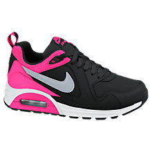 Buy Nike Childrens' Air Max Trax Trainers, Black/Pink Online at johnlewis.com