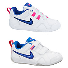 Buy Nike Children's Lykin 11 Trainers, White/Pink Online at johnlewis.com