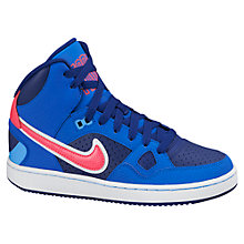 Buy Nike Son of Force High Top Trainers, Royal Blue/Pink Online at johnlewis.com