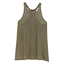Buy Mango Essential Linen Top, Medium Beige Online at johnlewis.com