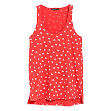Buy Mango Printed Strap Top, Red Online at johnlewis.com