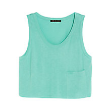 Buy Mango Dropped Pocket Cropped Top Online at johnlewis.com