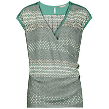 Buy Sandwich Tile Print Jersey Top, Mint Online at johnlewis.com